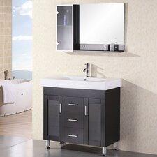 "Miami 36"" Single Bathroom Vanity Set with Mirror"