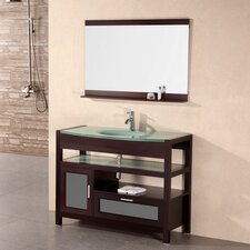 "Milan 43"" Single Bathroom Vanity Set with Mirror"