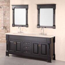 "Marcos 72"" Double Bathroom Vanity Set with Mirror"