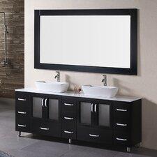 """Stanton 72"""" Double Bathroom Vanity Set with Mirror"""