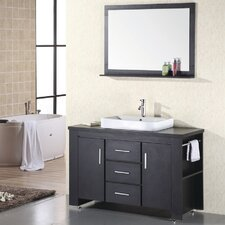 "Washington 48"" Single Bathroom Vanity Set with Mirror"