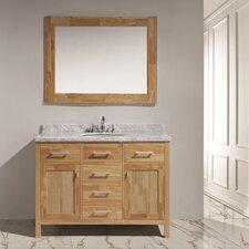 """London 48"""" Single Sink Vanity Set with Mirror"""