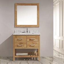 """London 36"""" Single Sink Vanity Set with Mirror"""