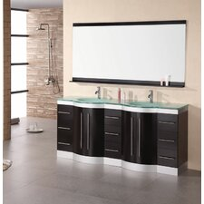 "Jade Jasper 72"" Double Bathroom Vanity Set with Mirror"