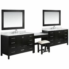 "London 84"" Single Sink Vanity Set with Mirror"
