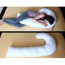 J Full Body Pillow with Hypoallergenic Synthetic Fiber Filler