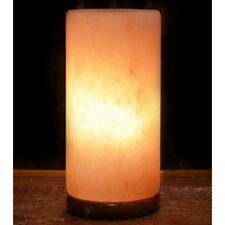 "9"" Natural Salt Table Lamp with Cylinder Shade"