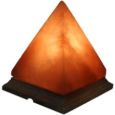 "Pyramid Himalayan 8"" Crystal Salt Table Lamp"