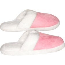 Lady's Suede Fur Trimmed Slipper
