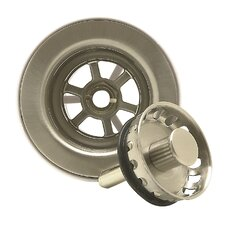 Bar Sink Strainer with Spring Loaded Center Pin