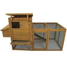 """Pawhut 75"""" Deluxe Wooden Chicken Coop Hen House with Outdoor Run"""