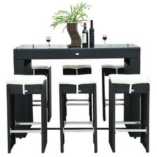 Outsunny 7 Piece Bar Set with Cushions