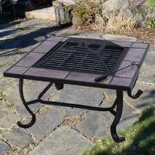 Outsunny Backyard Patio Fire Pit Table