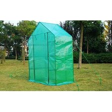 Outsunny 2.5 Ft. W x 4.5 Ft. D Plastic Greenhouse