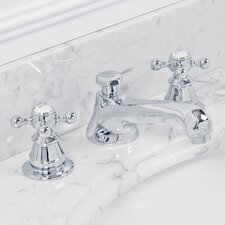 Water Creation F2-0009-01 American 20th Century Classic Widespread Lavatory Faucet With Pop-Up Drain