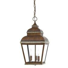 Mossoro Walnut 3 Light Outdoor Hanging Lantern
