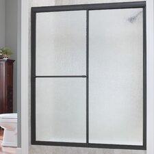 """Tides 70"""" x 44""""-48"""" Framed Sliding Shower Door"""