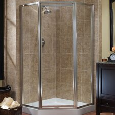 "Tides 70"" x 18.5"" x 24"" x 18.5"" Framed Neo-Angle Shower Door"