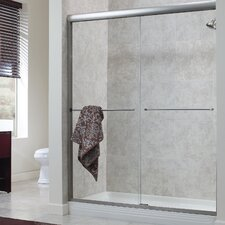 "Cove 65"" x 42""-46"" Frameless Sliding Shower Door"