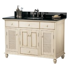 "Cottage 48"" Single Vanity in Antique White"