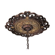 Zaragoza Ceiling Medallion in Golden Bronze