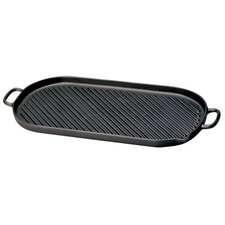 "Cast Iron 18"" Grill Pan"