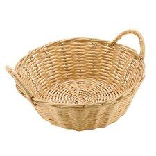 Dual-handled Round Polyrattan Bread Basket (Set of 6)