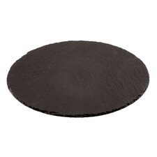 """15"""" Round Natural Slate Tray"""
