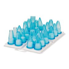 24 Piece Assorted Polycarbonate Pastry Tip Set