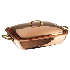 """13.88"""" Copper and Tin Roasting Pan"""