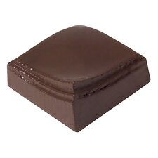 """1.12"""" Flatteded Square Chocolate Mold"""