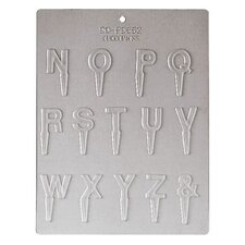N to Z Letter Chocolate Mold
