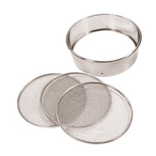 Stainless Steel Sifter with Interchangeable Mesh