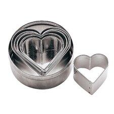 6 Piece Heart Dough Cutter Set (Set of 2)