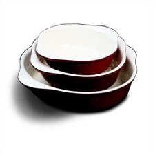"8.25"" Enamel Round Dish"