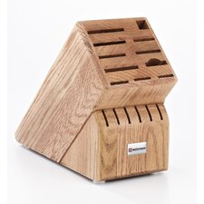17-Slot Oak Knife Block