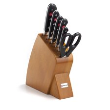Classic 7 Piece Jumbo Studio Bamboo Knife Block Set