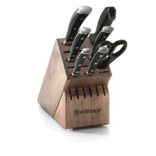 Classic Ikon 8 Piece Walnut Knife Block Set