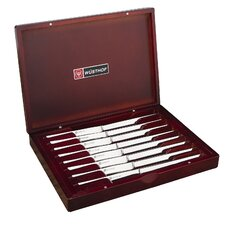 Stainless Steel 9 Piece Steak Knife & Rosewood Chest Set