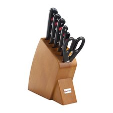 Gourmet 7 Piece Jumbo Studio Cherry Knife Block Set