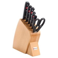 Gourmet 7 Piece Jumbo Studio Beech Knife Block Set