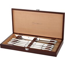 Stainless Steel Steak and Carving Set (Set of 10)