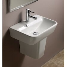 Emma Semi Pedestal Ceramic Bathroom Sink