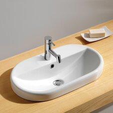 Traffic Meridian Oval Semi Recessed Bathroom Sink