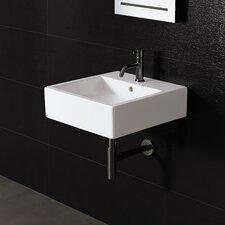 Area Boutique Ice Large Square Ceramic Bathroom Sink