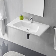 Veo Porcelain Bathroom Sink with Overflow
