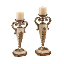 Golden Stone Candlesticks (Set of 2)