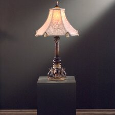"Traditional 32"" H Table Lamp with Bell Shade"