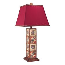 "33"" H Table Lamp with Square Shade"