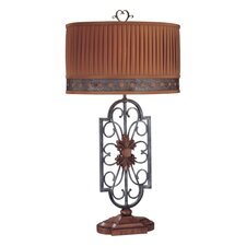 "33.5"" H Table Lamp with Drum Shade"